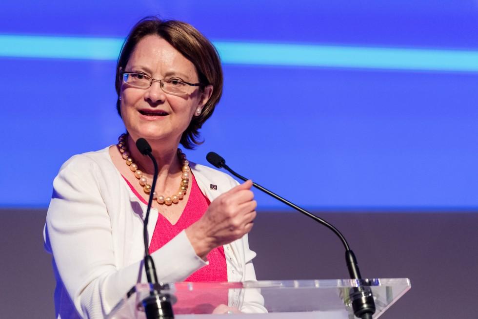 ESA-president Bente Angell-Hansen mener det norske standpunktet er i strid med EUs yrkeskvalifikasjonsdirektiv. Foto: ESA