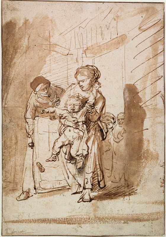 The unruly child av Rembrandt van Rijn (ca. 1635)